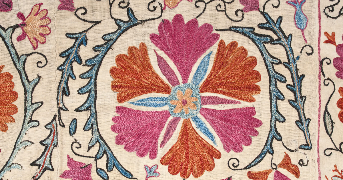 detail of colcha embroidery A.1965.31