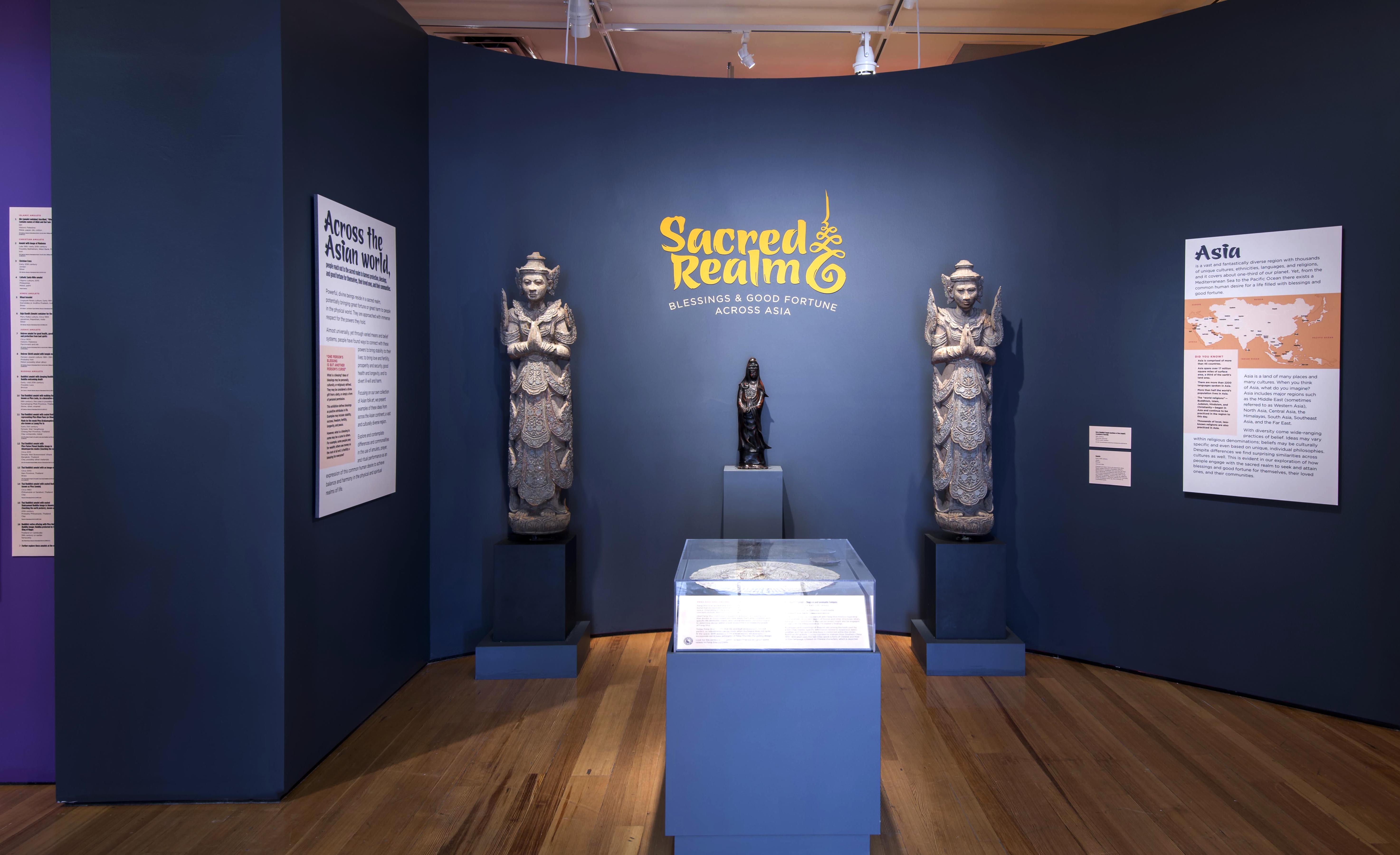 Entrance to the exhibition Sacred Realm: Blessings and Good Fortune across Asia
