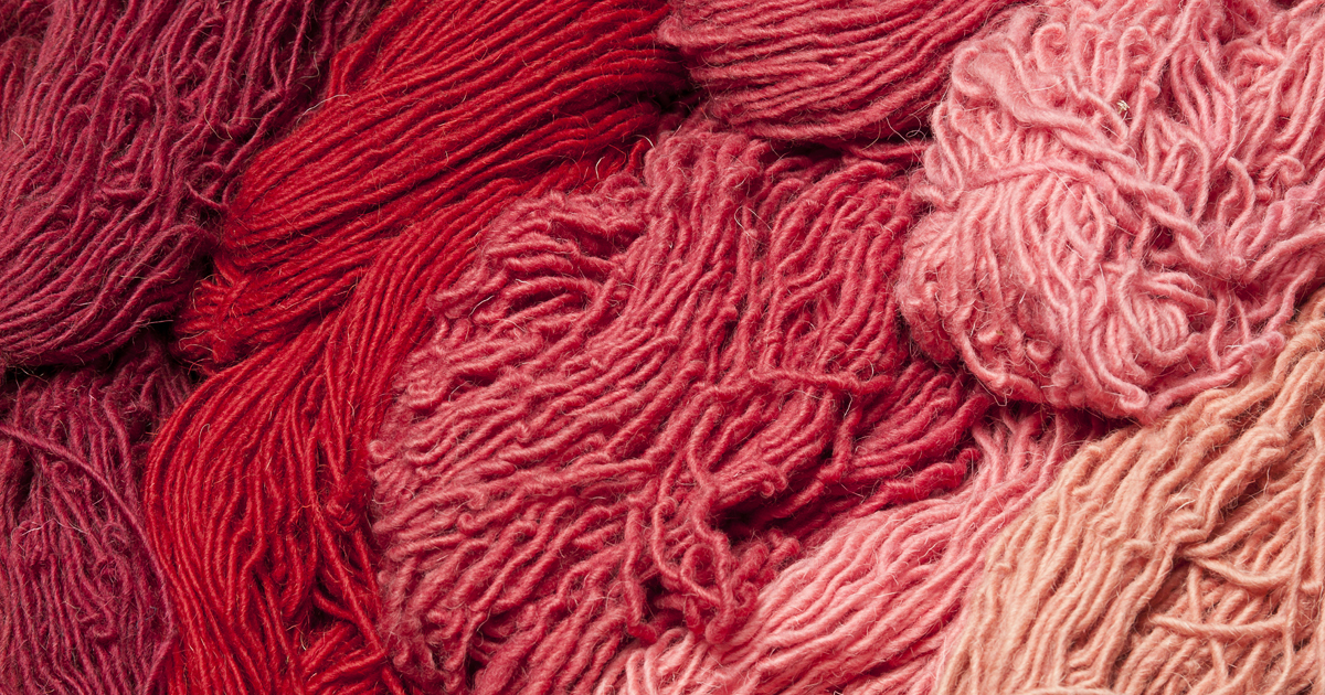 What would you make with this cochineal-dyed yarn?