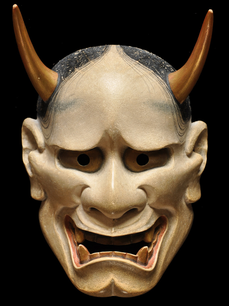 """White Hannya"" (Noh mask), by Ichiyu Terai"